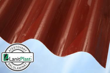 Sklolaminát vlna 94/35 síla 0,71 mm červený 0,94x2m
