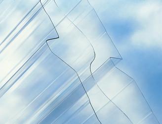 Trapézový polykarbonát Suntuf CS TR 205/35 síla 1,0 mm čirý 1,066x