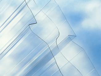 trapézový polykarbonát Suntuf CS TR 250/55 síla 1,1 mm čirá 1,030x