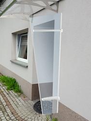 boční stěna LANITPLAST UNI bílá / PLEXI