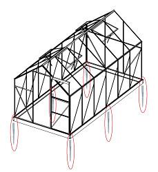 Sada 8 zemní vruty (modely 8x7, 8x10, 8x12, 6700 - 9900)
