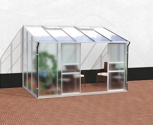 skleník VITAVIA IDA 6500 matné sklo 4 mm + PC 6 mm stříbrný