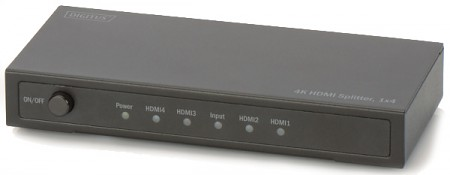 HDMI rozbočovač Digitus 1x4, podpora 4K