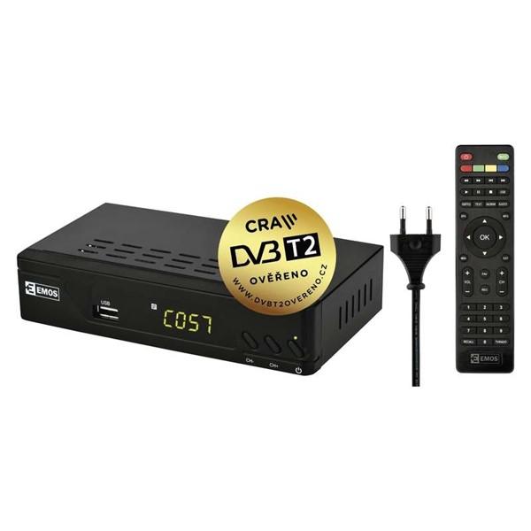 DVB-T/T2 přijímač EMOS EM170 HD