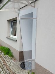 univerzální boční stěna LANITPLAST UNI stříbrná / PLEXI