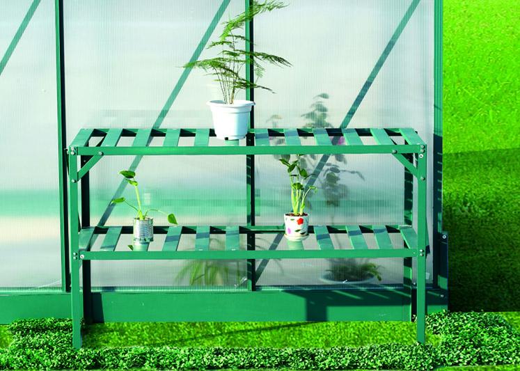 AL regál LANITPLAST 126x50 cm dvoupolicový zelený