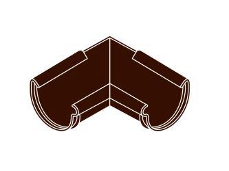 roh vnitřní RG 125 půlkulatý hnědá barva