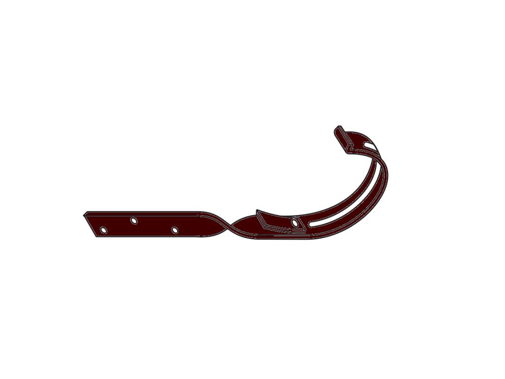 kovový hák překroucený RG 125 půlkulatý hnědá barva