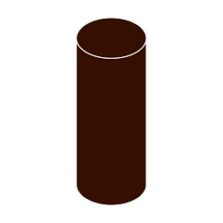 Svodová trubka s hrdlem DN 125 hnědá barva 3m