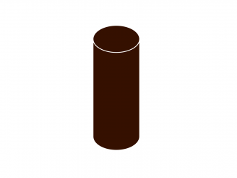 svodová trubka bez hrdla DN 75 hnědá barva
