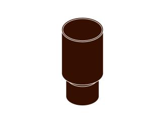 spojka svodu DN 105 hnědá barva