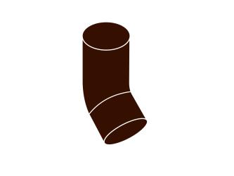 koleno svodu 45° DN 53 hnědá barva