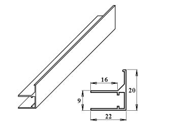 AL ukončovací / okrajový U/F-profil 6 mm 2.10m