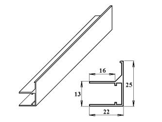 AL ukončovací / okrajový U/F-profil 10 mm 2.10m