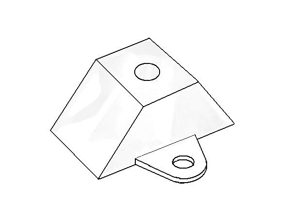 distanční podložka lichoběžníková pro TR 76/16 a TR 76/18
