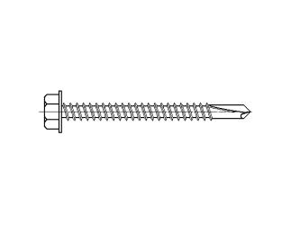 šroub do železa TEX 4,8 x 50 mm šestihranná hlava