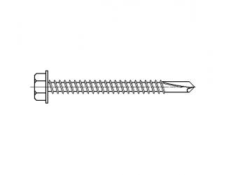 Šroub do železa TEX 4,8 x 80 mm šestihranná hlava