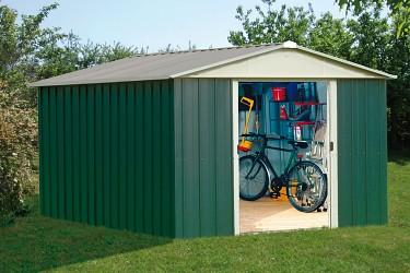 Zahradní domek KROFTAS 1013 - 303 x 396 cm zelený
