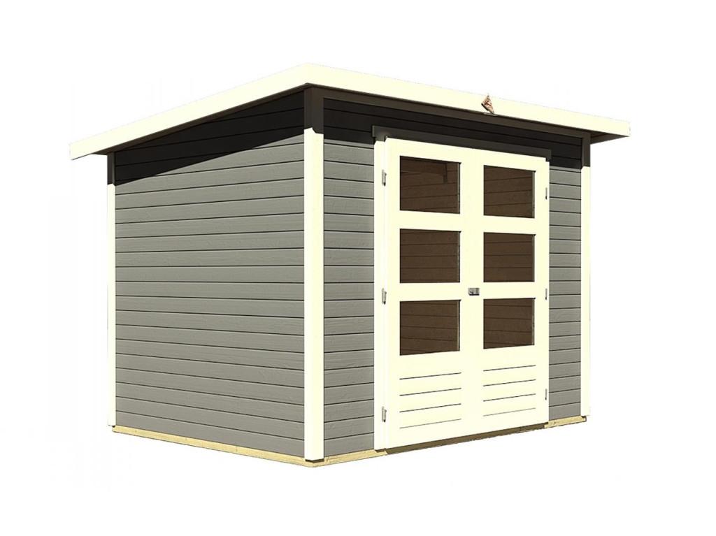 dřevěný domek KARIBU STOCKACH 4 (82981) tm. šedý