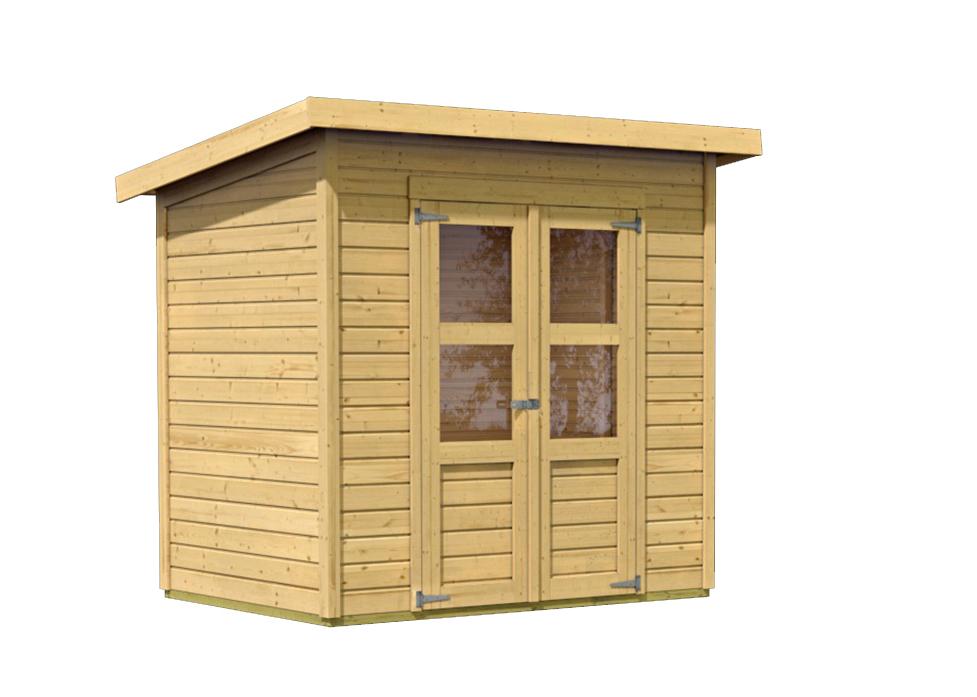 dřevěný domek KARIBU MERSEBURG 3 (68152) natur
