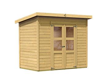 dřevěný domek KARIBU MERSEBURG 6 (73065) natur
