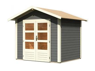dřevěný domek KARIBU TALKAU 3 (83334) tm. šedý