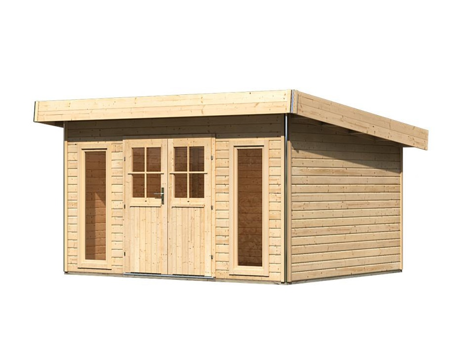 dřevěný domek KARIBU TECKLENBURG 1 (83407) natur