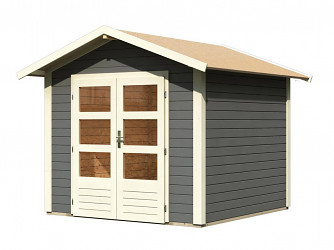 dřevěný domek KARIBU TALKAU 4 (83337) tm. šedý