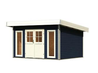 dřevěný domek KARIBU TECKLENBURG 1 (89407) tm. šedý