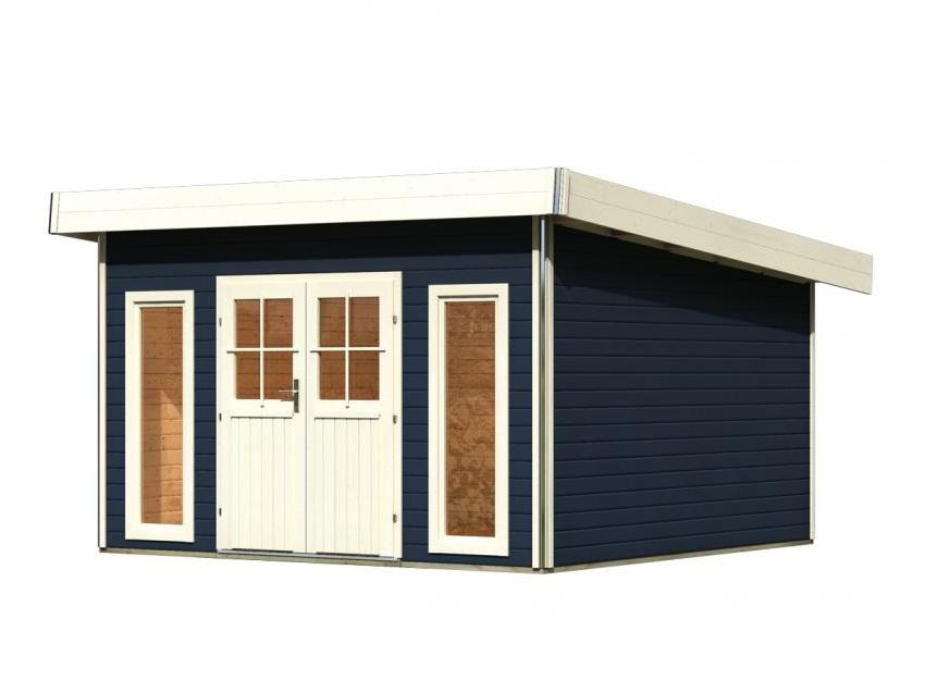 dřevěný domek KARIBU TECKLENBURG 2 (89408) tm. šedý