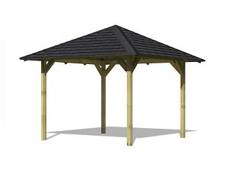 zahradní altán KARIBU SEVILLA 68819 vč. černého střešního šindele