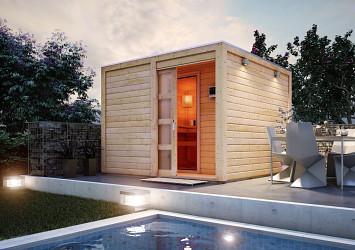 finská sauna KARIBU CUBEN (80796) s předsíní