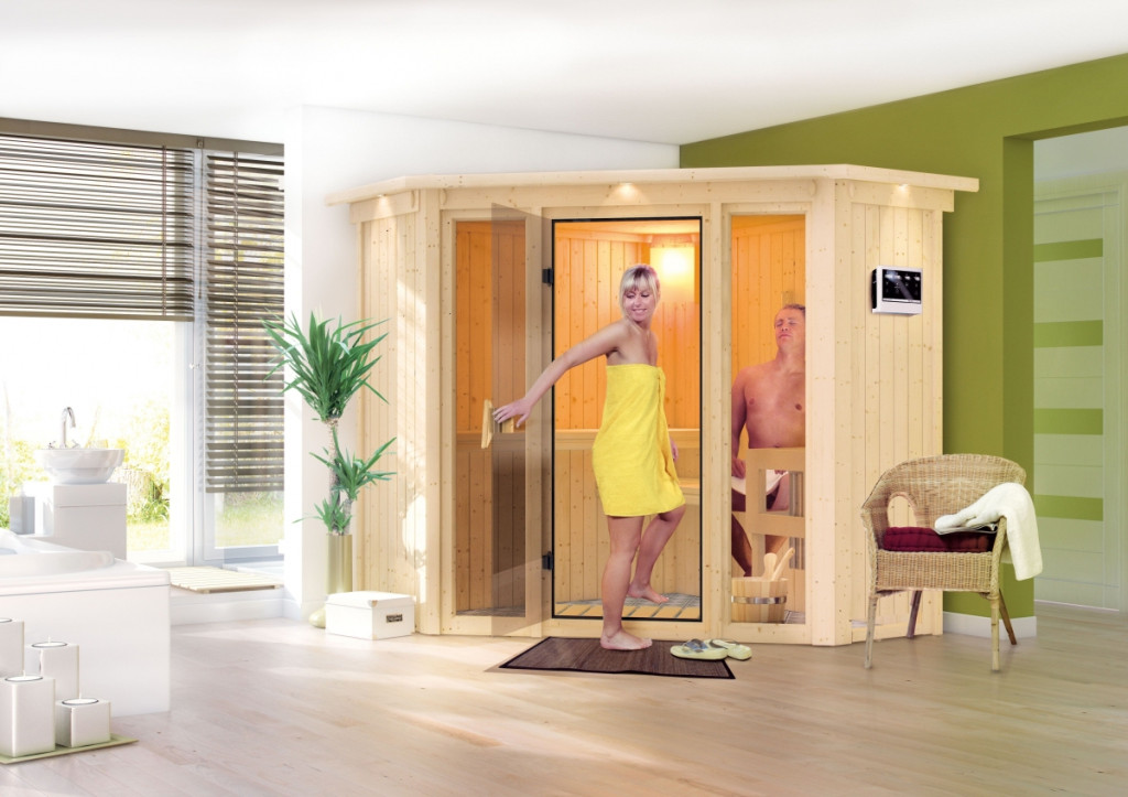 finská sauna KARIBU FLORA 1 (57003)