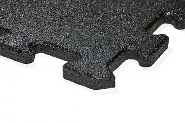 gumová dlažba LANITPLAST FUNDUS PUZZLE P25 černá