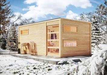 finská sauna KARIBU HYGGE (86314) s předsíní