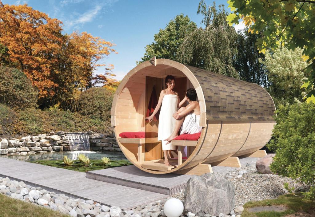 finská sauna KARIBU FASSAUNA 4 (66855)