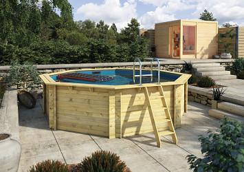 bazén KARIBU 4,0 x 4,0 m A1 (45626)
