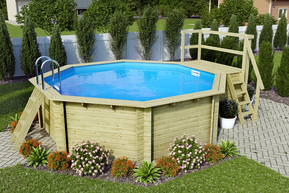 bazén KARIBU 4,7 x 4,7 m B2 (45634)
