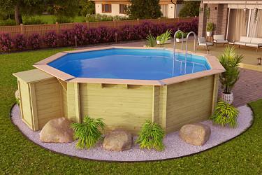 bazén KARIBU 4,0 x 4,0 m A1 PREMIUM SUPERIOR (92114)
