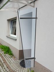 boční stěna LANITPLAST UNI antracit / PLEXI