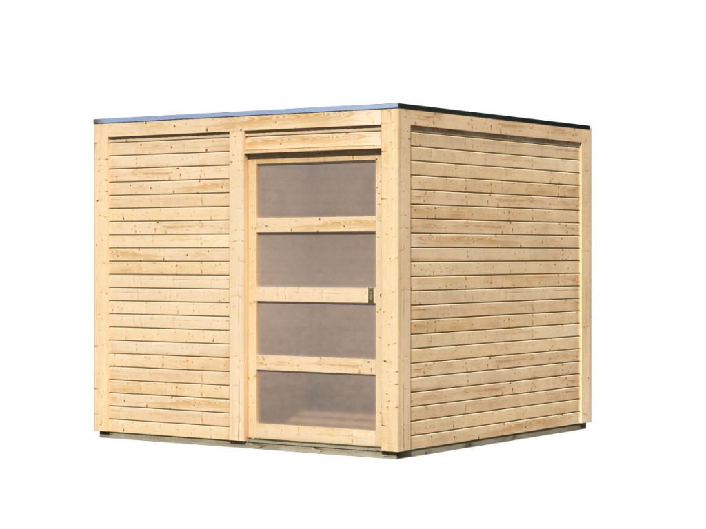 dřevěný domek KARIBU QUBIC 2 (88527) natur