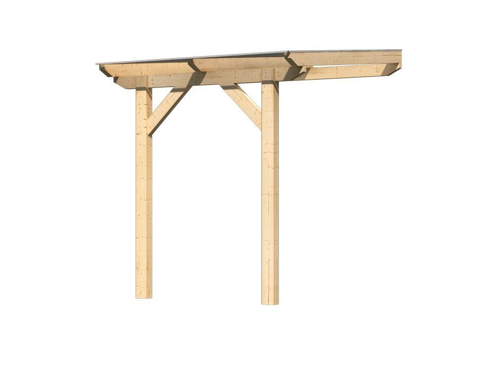 dřevěná pergola KARIBU CLASSIC 1A natur / čirý PC 10 mm