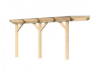 dřevěná pergola KARIBU CLASSIC 1B natur / čirý PC 10 mm