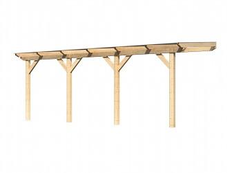 dřevěná pergola KARIBU CLASSIC 2C natur / čirý PC 10 mm