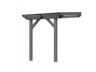 dřevěná pergola KARIBU CLASSIC 1A šedá / čirý PC 10 mm