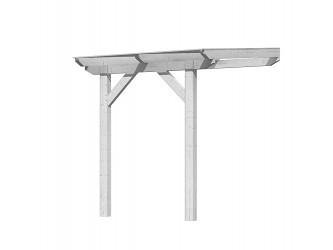 dřevěná pergola KARIBU CLASSIC 1A bílá / čirý PC 10 mm