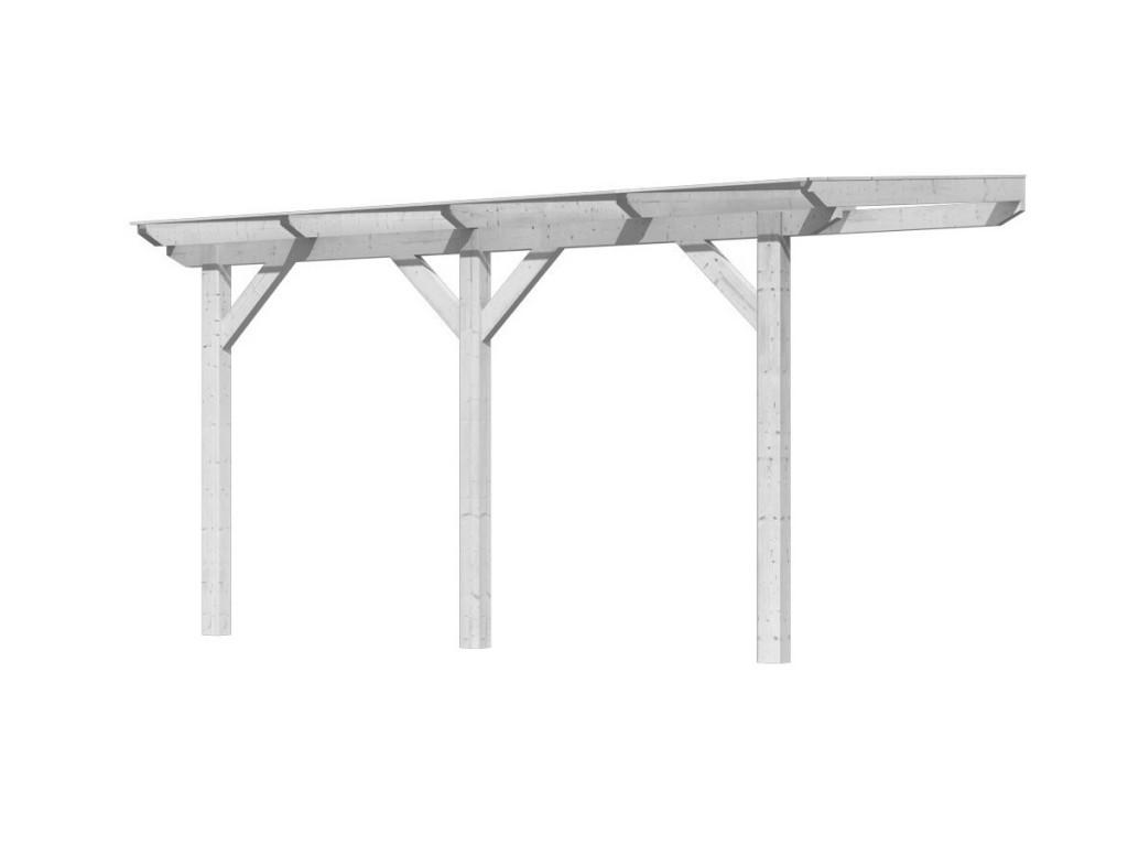 dřevěná pergola KARIBU CLASSIC 1B bílá / čirý PC 10 mm