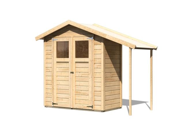dřevěný domek KARIBU DANA (23485) natur