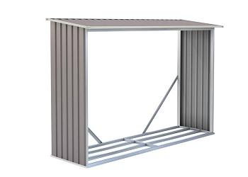 Přístřešek na dřevo G21 WOH 181 - 242 x 75 cm, šedý
