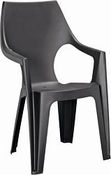 Plastová židle Keter Dante highback grafitová